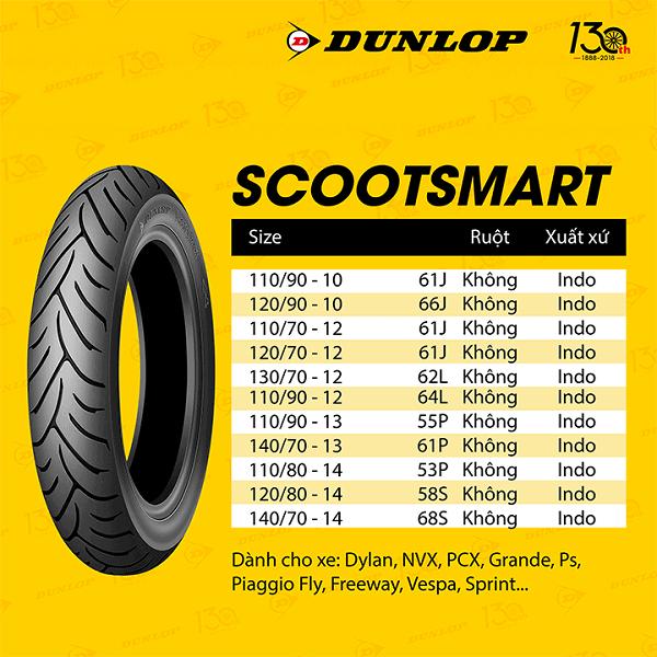 Lốp Dunlop 130/70-12 SC Smart