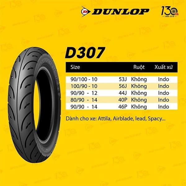 lốp Dunlop 90/90-14 D307