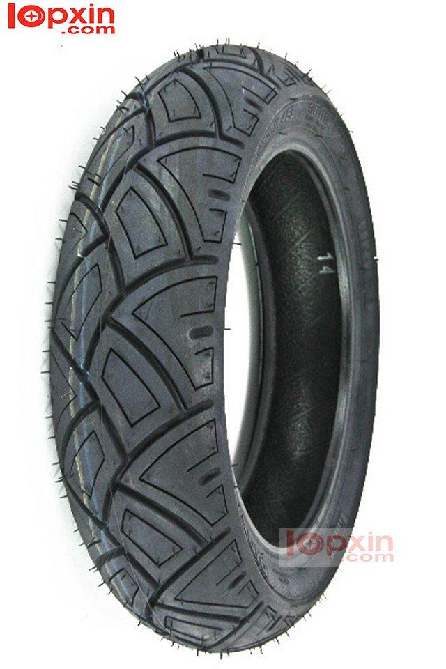 Lốp trước xe Vespa LX chất lượng cao, bám đường tốt, dẻo dai.