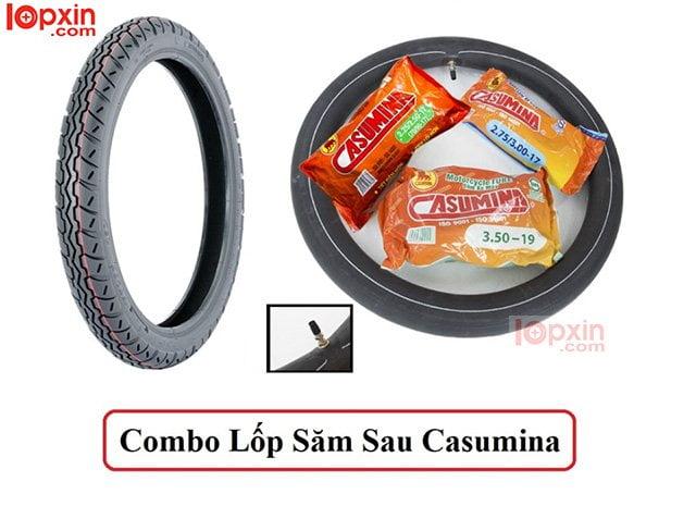 Lốp sau xe Wave Casumina 2.50 - 17 giá thành rẻ, bám đường tốt