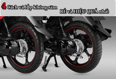 4 Cách vá lốp không ruột xe máy nhanh và an toàn nhất hiện nay
